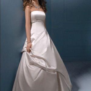 Alfred Angelo Duchess Satin Wedding Dress